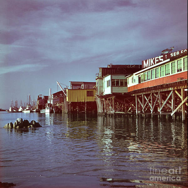 Photograph - Mikes Sea Food Fisherman Wharf Monterey Circa 1960 by California Views Archives Mr Pat Hathaway Archives