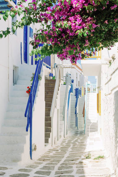 Blues Alley Photograph - Mikonos Alley by Deimagine