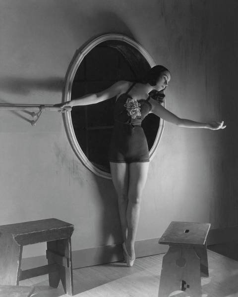 Window Photograph - Milada Mladova On Pointe by Horst P. Horst
