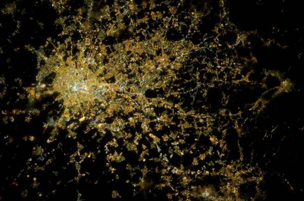 International Space Station Photograph - Milan At Night From Space by Nasa/science Photo Library
