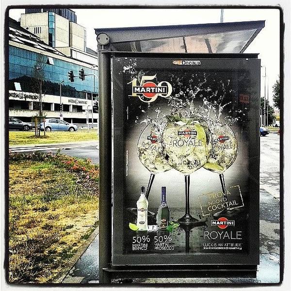 Martini Wall Art - Photograph - #milano #busstop #bonola #martini by Andrea Zampedroni