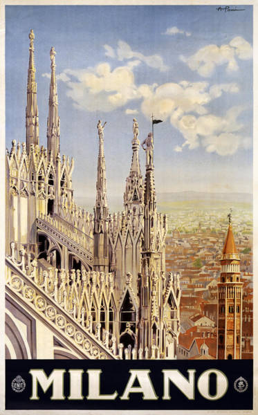 Famous Places Digital Art - Milano Italy by Georgia Fowler