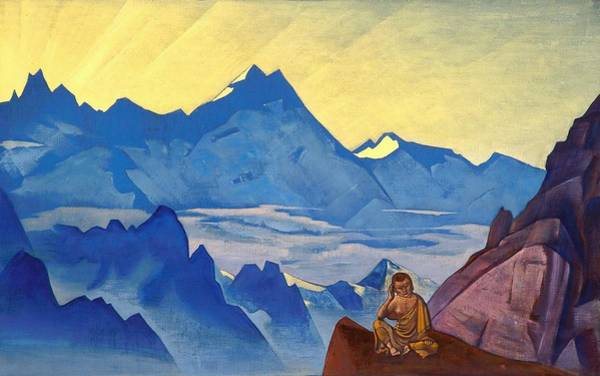 Nk Roerich Painting - Milarepa - The One Who Harkened by Nicholas Roerich