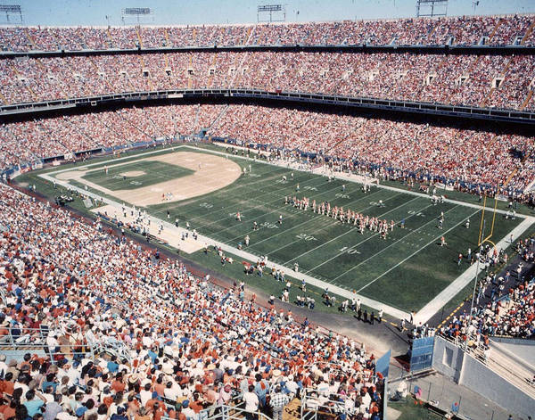 Wall Art - Photograph - Mile High Stadium Denver Broncos Vintage by Retro Images Archive