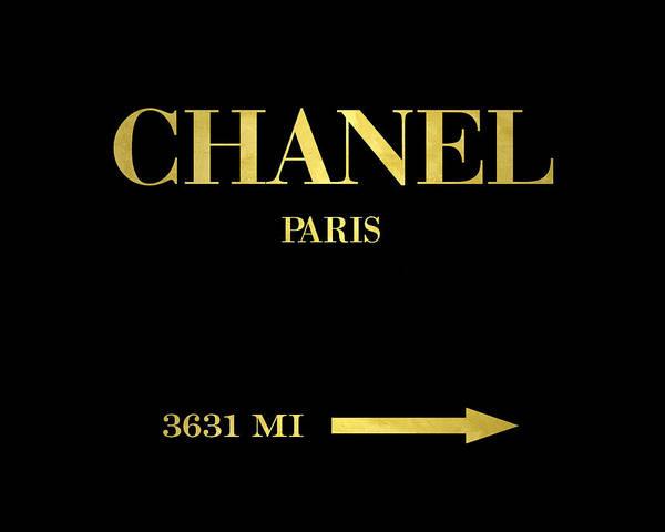 Wall Art - Digital Art - Mileage Distance Paris Chanel by Edit Voros