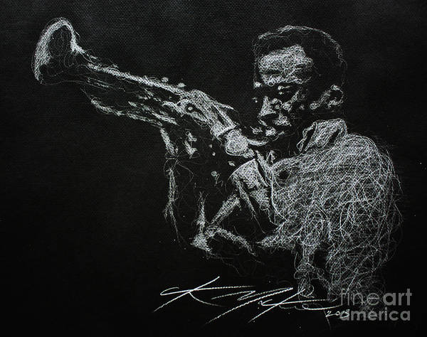 Drawing - Miles by CK Mackie
