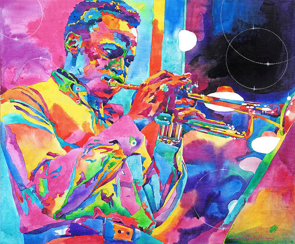 Painting - Miles Davis Bebop by David Lloyd Glover