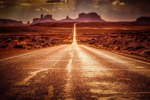 Monument Valley Navajo Tribal Park Wall Art - Photograph - Miles To Go Special Request by Jennifer Grover