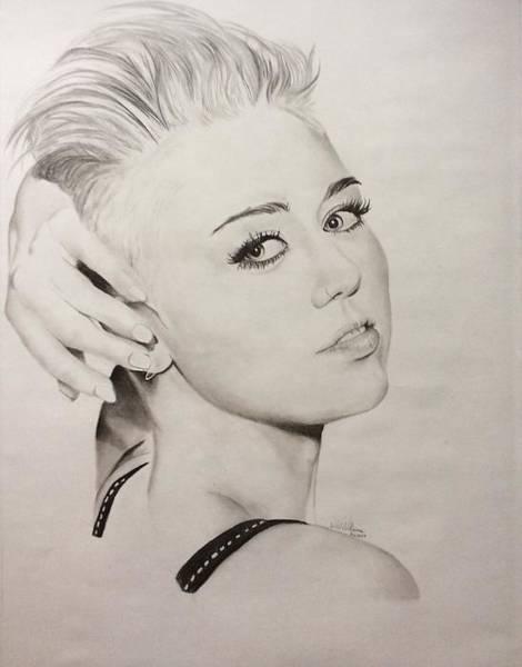 Miley Cyrus Wall Art - Drawing - Miley Cyrus by Ashley Williams