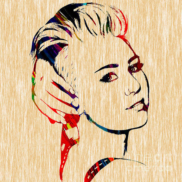 Miley Cyrus Wall Art - Mixed Media - Miley Cyrus Collection by Marvin Blaine