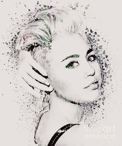 Miley Cyrus Wall Art - Digital Art - Miley Cyrus by Gillian Singleton