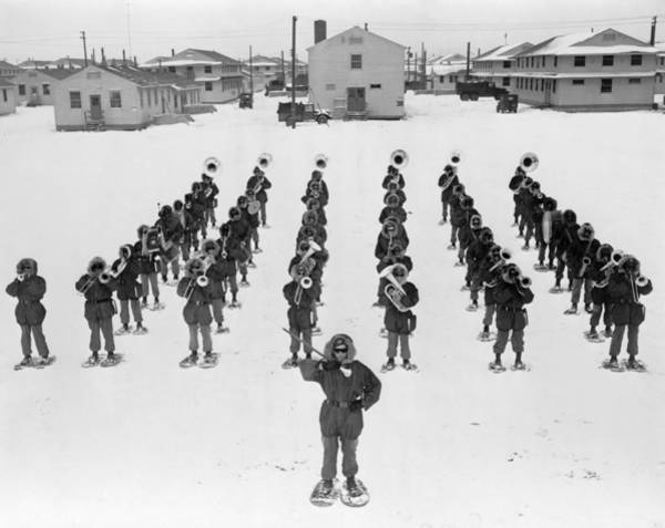Wall Art - Photograph - Military Band, 1953 by Granger