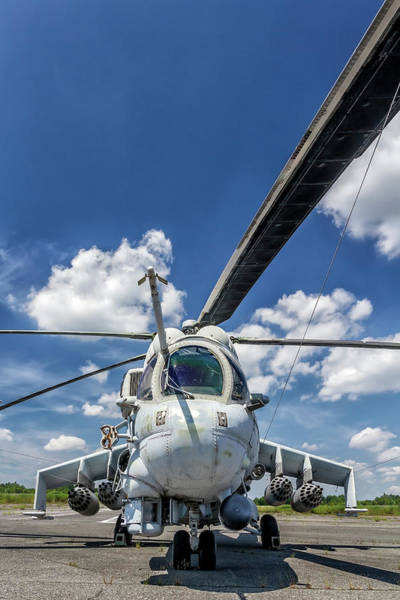 Cold War Photograph - Military Helicopter Mi-24 by Ewg3d