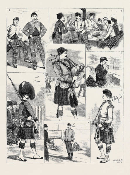 Duty Drawing - Military Sketches At Edinburgh Castle I. Dont Forget by English School