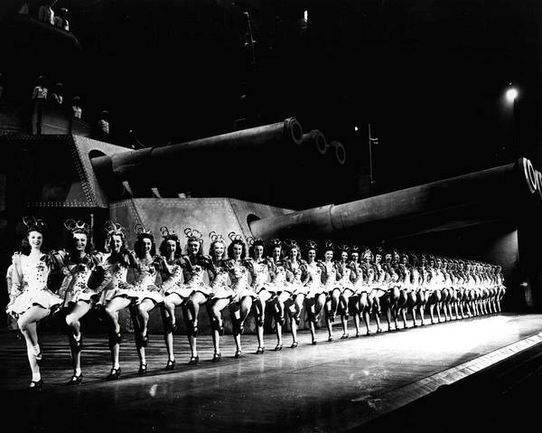Radio City Music Hall Photograph - Military Tribute Rockettes by Retro Images Archive