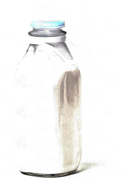 Milk Painting - Milk Bottle by Edward Fielding