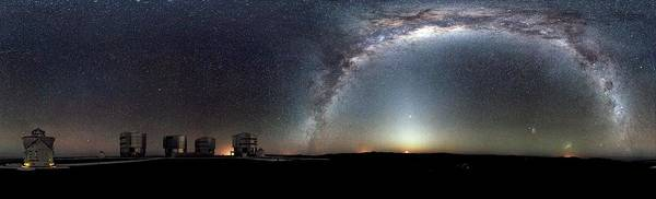 Southern Hemisphere Wall Art - Photograph - Milk Way Over An Astronomical Observatory by European Southern Observatory/science Photo Library