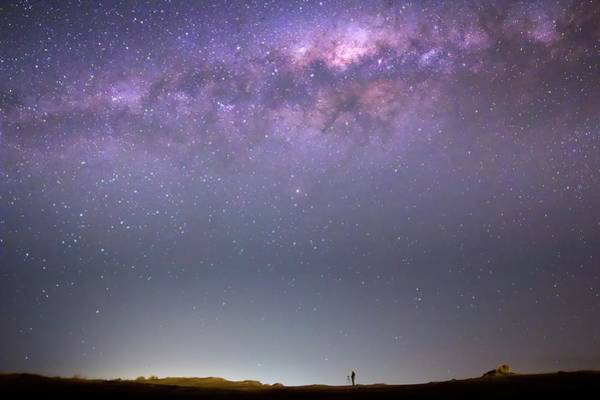 Southern Hemisphere Wall Art - Photograph - Milky Way And Astronomer by Luis Argerich