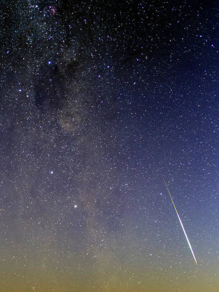 Astrophysics Wall Art - Photograph - Milky Way And Shooting Star by Babak Tafreshi