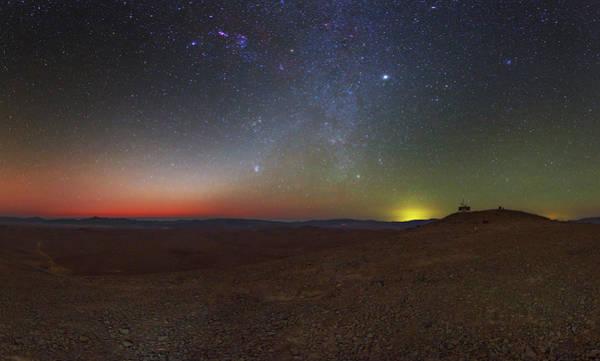 Astronomical Twilight Photograph - Milky Way And Zodiacal Light At Dusk by Babak Tafreshi