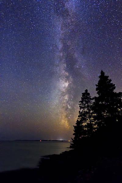 Milky Way At Acadia National Park Art Print