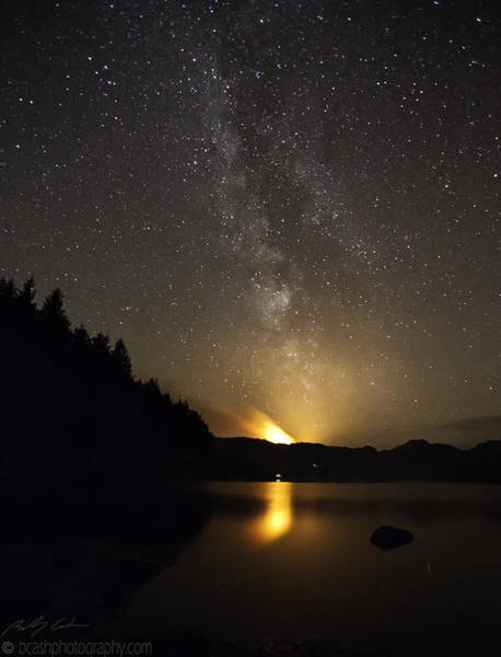 Photograph - Milky Way At Crafnant 2 by Beverly Cash