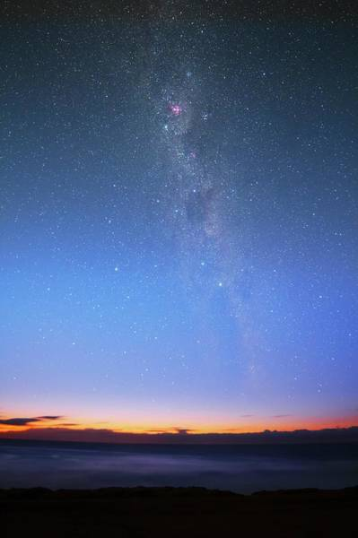Astronomical Twilight Photograph - Milky Way At Dawn by Luis Argerich