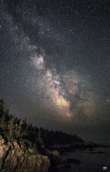 Photograph - Milky Way At Raven's Nest by John Meader