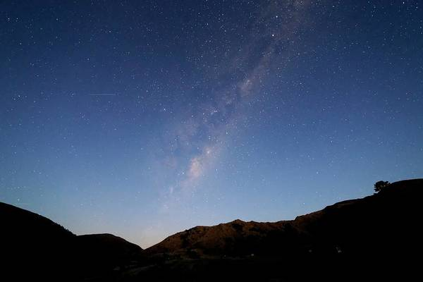 Astronomical Twilight Photograph - Milky Way At Twilight by Luis Argerich