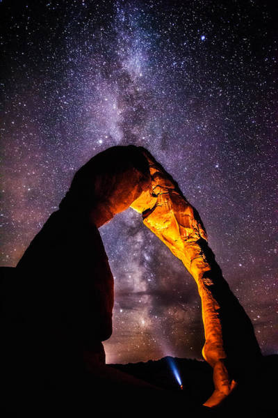 Delicate Arch Wall Art - Photograph - Milky Way Explorer by Darren  White