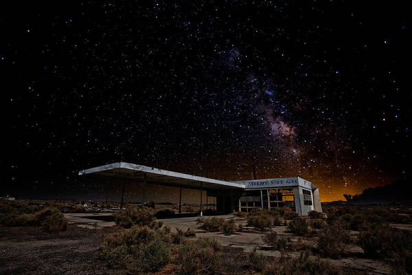 Mojave Photograph - Milky Way Gas by Peter Tellone