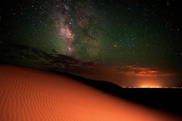 Colorado Photograph - Milky Way Gold From Sand Dunes Colorado by Mike Berenson / Colorado Captures