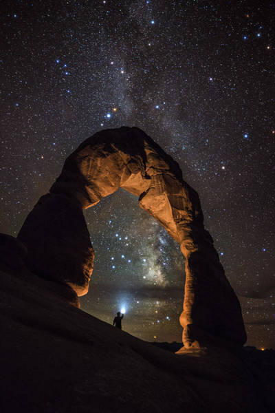 Delicate Arch Photograph - Milky Way Illumination At Delicate Arch by Mike Berenson