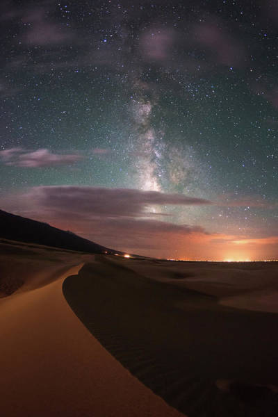 Great Sand Dunes National Park Photograph - Milky Way Nightscape From Great Sand by Mike Berenson / Colorado Captures