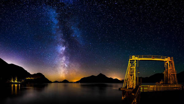 Photograph - Milky Way Over Anvil Island by Alexis Birkill