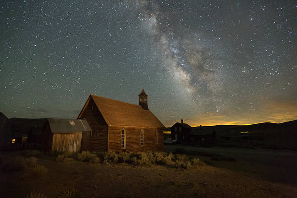 Bodie Ghost Town Wall Art - Photograph - Milky Way Over Bodie Church by Jeff Sullivan