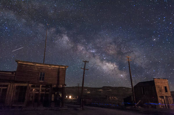 Bodie Ghost Town Wall Art - Photograph - Milky Way Over Bodie Hotels by Cat Connor