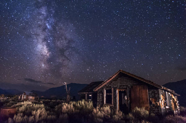 Wall Art - Photograph - Milky Way Over Hwy. 395 Shacks by Cat Connor