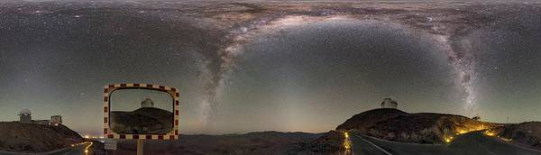 One Way Road Photograph - Milky Way Over La Silla Observatory by Babak Tafreshi/science Photo Library
