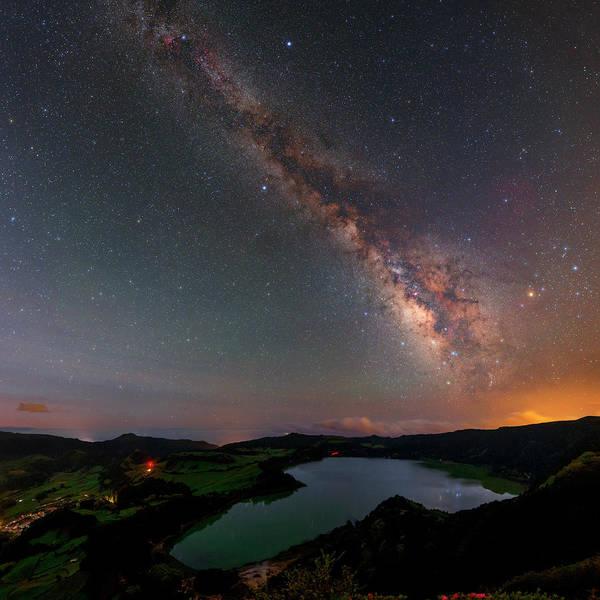 Azores Photograph - Milky Way Over Lagoa Das Furnas by Babak Tafreshi