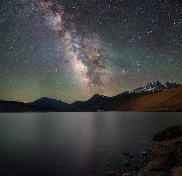Wall Art - Photograph - Milky Way Over Lake by Babak Tafreshi/science Photo Library