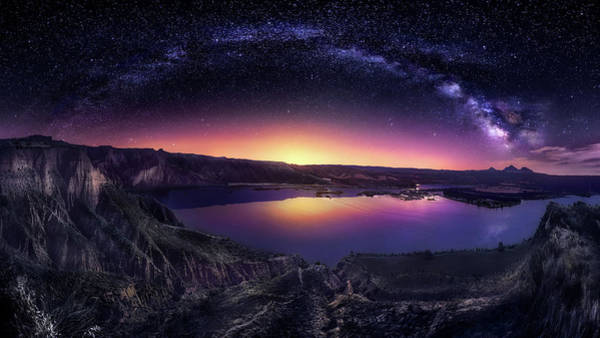 Milky Wall Art - Photograph - Milky Way Over Las Barrancas 2016 by Jes?s M. Garc?a