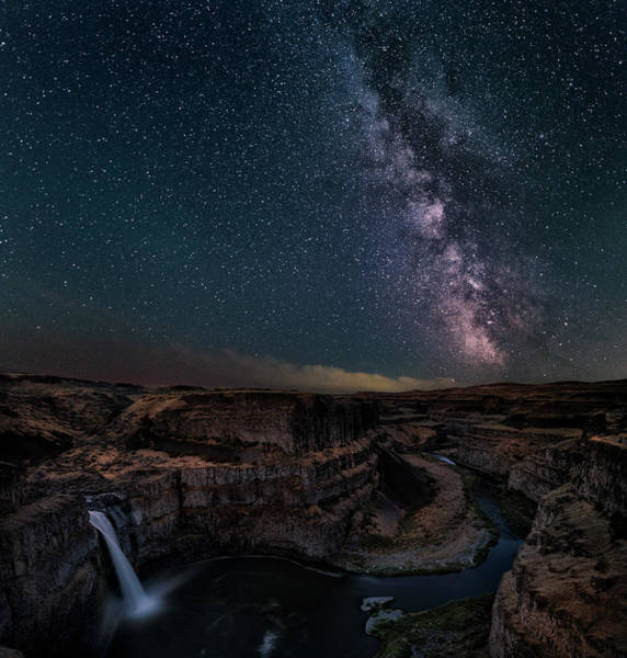 Wall Art - Photograph - Milky Way Over Palouse Falls by Lydia Jacobs