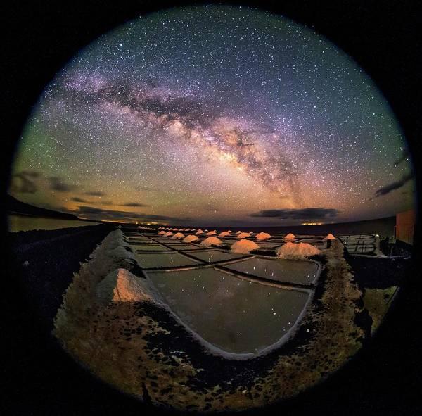 Salt Pond Photograph - Milky Way Over Salt Pans by Babak Tafreshi