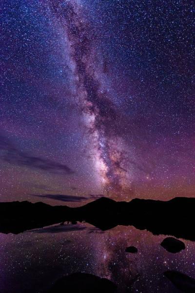 Colorado Photograph - Milky Way Reflections by Photo By Matt Payne Of Durango, Colorado