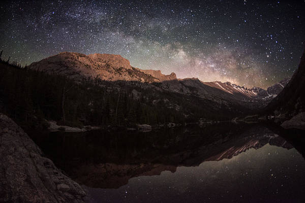 Milky Way Rising Over Longs Peak Art Print