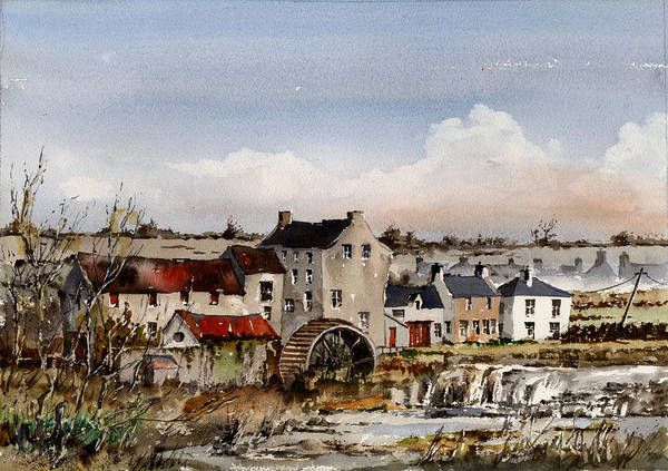 Painting - Mill At Bruree  Limerick by Val Byrne