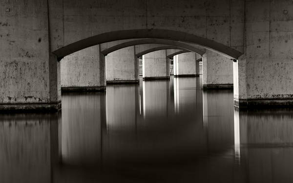 Wall Art - Photograph - Mill Avenue Bridge Reflections by Dave Dilli