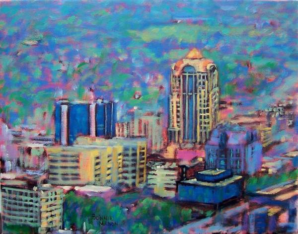 Wall Art - Painting - Mill Mountain View by Bonnie Mason