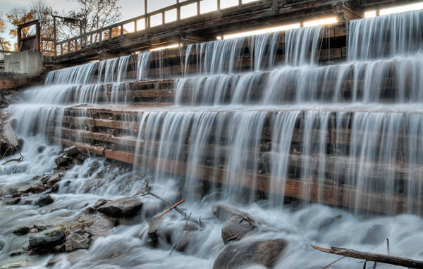 Photograph - Mill Pond Dam. Waba Creek by Rob Huntley
